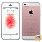 Apple iPhone SE Glassy Transparent Gray SPOTS Candy Skin Cover