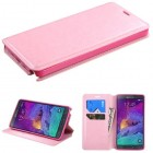 Samsung Galaxy Note 4 Pink Wallet(with Tray)