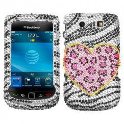 Blackberry 9800 Torch Playful Leopard Diamante Case