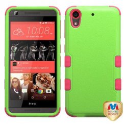 HTC Desire 555 Natural Pearl Green/Electric Pink Hybrid Case