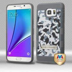 Samsung Galaxy Note 5 Urban Camouflage/Iron Gray Hybrid Case with Stand