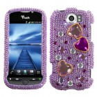 HTC myTouch 4G Slide Love Crash Diamante Phone Protector Cover