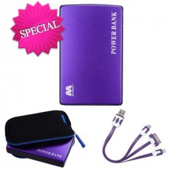 Purple Li-ion Power Bank (11000 mAh)