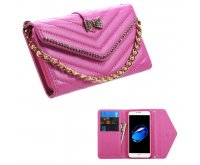 Hot Pink Premium Quilted Wallet(with Bracelet) -WP