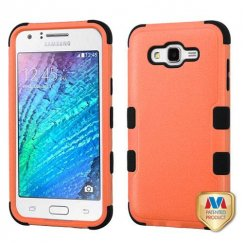 Samsung Galaxy J7 Natural Orange/Black Hybrid Case