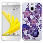 HTC Bolt Purple Hibiscus Flower Romance/White Advanced Armor Case
