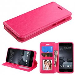 HTC One A9 Hot Pink Wallet with Tray