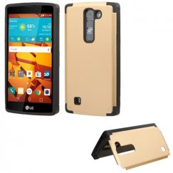 LG LS751 Volt 2 Gold Inverse Advanced Armor Stand Case
