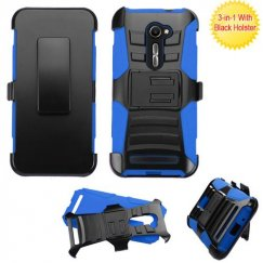 Black/ Blue Advanced Armor Stand Case with Black Holster