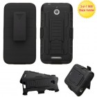 HTC Desire 510 Black/Black Advanced Armor Stand Protector Cover (With Black Holster)