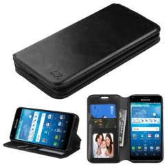 Kyocera Hydro Reach / Hydro View Black Wallet with Tray
