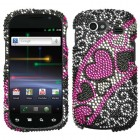 Samsung Nexus S 4G Streaming Hearts Diamante Phone Protector Cover