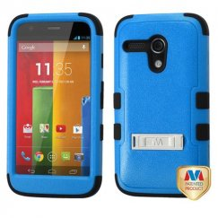 Motorola Moto G Natural Dark Blue/Black Hybrid Case with Stand