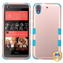 HTC Desire 626 Rose Gold/Tropical Teal Hybrid Case