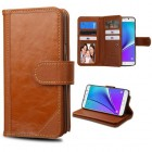 Samsung Galaxy Note 5 Brown Genuine Leather D'Lux Wallet (with Button Closure)