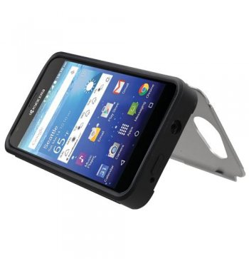 Kyocera Wave / Hydro Air Silver Inverse Advanced Armor Stand Case