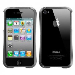 Apple iPhone 4/4s Gray Nitro Surround Shield with Chrome Coating Metal