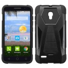 Alcatel Pop Icon 2 Black Inverse Advanced Armor Stand Protector Cover