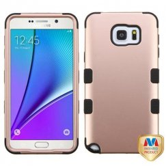 Samsung Galaxy Note 5 Rose Gold/Black Hybrid Case