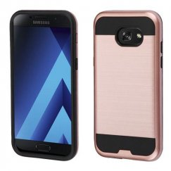 Samsung Galaxy A5 Rose Gold/Black Brushed Hybrid Case