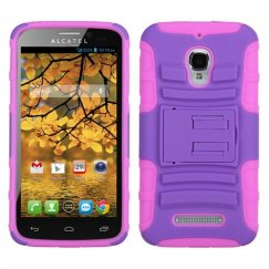 Alcatel One Touch Fierce Purple/Electric Pink Advanced Armor Stand Case