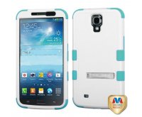 Natural Ivory White/Tropical Teal TUFF Hybrid Phone Protector Cover (with Stand)