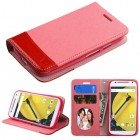 Motorola Moto E 2nd Gen Pink/Red wallet with Card Slot