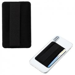 Black Adhesive Card Pouch (with Horizontal Wallet)