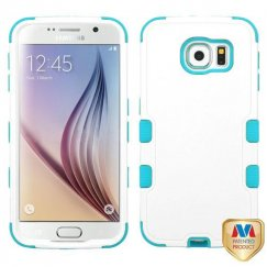 Samsung Galaxy S6 Natural Ivory White/Tropical Teal Hybrid Case