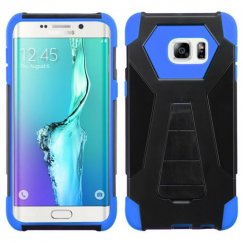 Samsung Galaxy S6 Edge Plus Blue Inverse Advanced Armor Stand Case