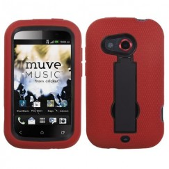 HTC Desire C Black/Red Symbiosis Stand Case