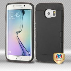 Samsung Galaxy S6 Edge Rubberized Black/Black Hybrid Case