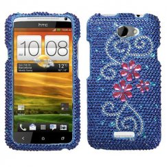 HTC One X Juicy Flower Diamante Case