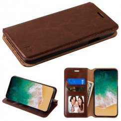 Apple iPhone X Brown Wallet with Tray