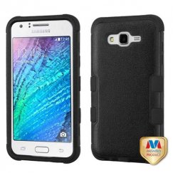 Samsung Galaxy J7 Natural Black/Black Hybrid Case