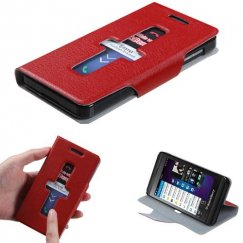 Blackberry Z10 Red Premium Book-Style Wallet