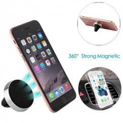 Silver Electroplating Magnetic Car Air Vent Mount Holder
