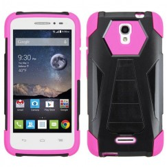 Alcatel One Touch Pop Astro Hot Pink Inverse Advanced Armor Stand Case