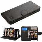 HTC Desire 626 Black Pattern/Black Liner wallet with Card Slot