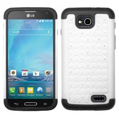 LG Optimus L90 White/Black FullStar Case