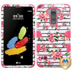 LG G Stylus 2 Pink Fresh Roses/Electric Pink Hybrid Case