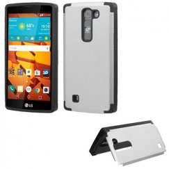 LG LS751 Volt 2 Silver Inverse Advanced Armor Stand Case