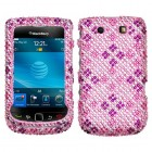 Blackberry 9800 Torch Plaid Hot Pink/Purple Diamante Phone Protector Cover