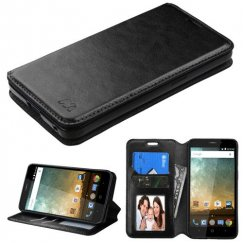 ZTE Avid Plus / Maven 2 Black Wallet with Tray
