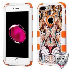Apple iPhone 7 Plus Majestic Lion/Orange Hybrid Case Military Grade