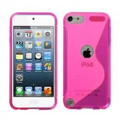 Apple iPod Touch (5th Generation) Hot Pink (S Shape) Candy Skin Cover