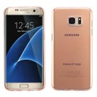 Samsung Galaxy S7 Edge Glossy Transparent Rose Gold Candy Skin Cover
