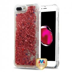Rose Gold Flowing Sparkles Quicksand Glitter Lite Hybrid Protector Cover