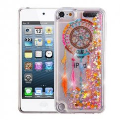 Apple iPod Touch (6th Generation) Dreamcatcher & Gold Stars Quicksand Glitter Hybrid Case
