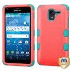 Kyocera Hydro Reach / Hydro View Natural Baby Red/Tropical Teal Hybrid Case
